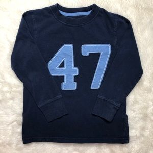 Jumping Beans Blue No 47 Long Sleeved Shirt Sz 4T